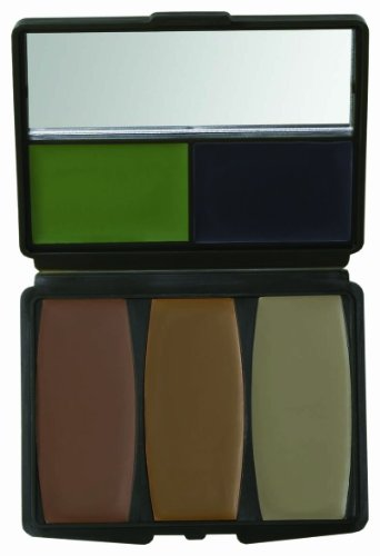 Hunters Specialties 5 Color Military Forest Digital Makeup Kit, Multi