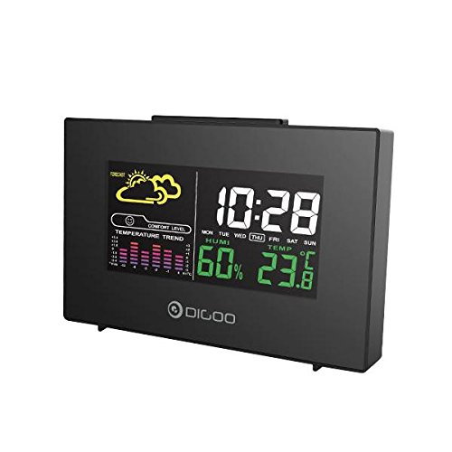 Pictech Digoo DG-C3 - Reloj Despertador inalámbrico