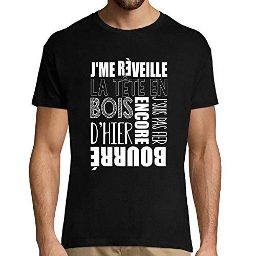 Encore bourré d'hier | T-Shirt Homme col Rond Musique Rap Hip Hop Français 5XL