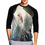 KuTisy Fashion T-Shirts for Mens Crysis 2 - Maximum Edition#9 Tees 3D Printed 3/4 Sleeve Baseball T-Shirts Black M