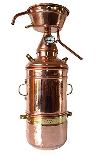 Dr. Richter 2L High-End Alquitara Destille mit Kolonne und Thermometer zur Herstellung ätherische Öle (Edition II)