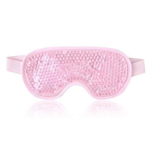 Augenmaske Kühlend Kühlmaske Augen Gel Augenmaske für Die Augen, Geschwollene Augen, Trockene Augen und Kopfweh - Pink