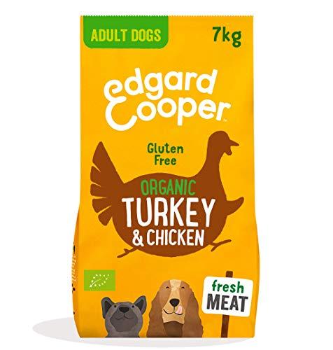 Edgard & Cooper pienso para Perros Adultos sin Gluten, Natural con Pavo y Pollo de Granja ecológicos, Comida balanceada sin harinas de Carne ni Carnes sobreprocesadas, cocinada a Fuego Len