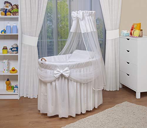 WALDIN Landau/berceaux pour bébé complet,6 modèles disponibles,Cadre/Roues non traitée, couleur du tissu blanc