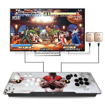 MERLINAE 3003 Games Arcade Machine, Family Game Pandora's Box 6 Multiplayer Home Joystick,Customized Buttons,Support 1280x720 Full HD,Support PS3,Compatible with HDMI and VGA for Children Gift from MERLINAE