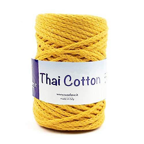 Thai Cotton-Cordino Intrecciato in Cotone Biologico Fettuccia da Lavorare all'Uncinetto, macramè ECC
