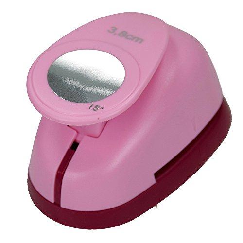 efco Stanzer L, Kreis Motivstanzer, Kern: Metall, pink, 9,5 x 6,5 x 6 cm