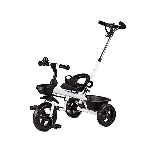 LRHD Triciclos, vehículos de tres ruedas for los niños, los triciclos for niños con varillas de empuje, autobuses bebé for los hombres y mujeres de edades 1-6, triciclos, triciclos, bicicletas, tricic