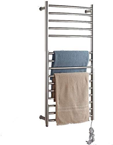Toallero Eléctrico Bajo Consumo Calentadores de toallas eléctricos, acero inoxidable 304 No hay necesidad de ajustar la temperatura Rack de secado en la pared Estante de la toalla de cuarto de baño ad