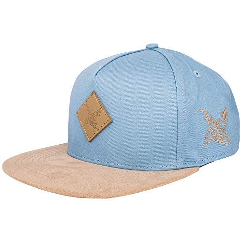 Blackskies Port St. Lucie Snapback Cap | Damen Herren Baseball Mütze Kappe Kunst-Wildleder Schirm - Hellblau-Beige