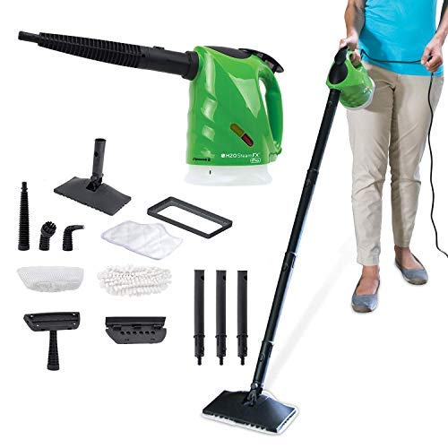 H2O SteamFX Pro, Hand-Held and Portable Steam Cleaner System for Home Use, with Cleaning Accessories
