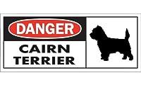 DANGER CAIRN TERRIER ワイドマグネットサイン:ケアーンテリア Mサイズ