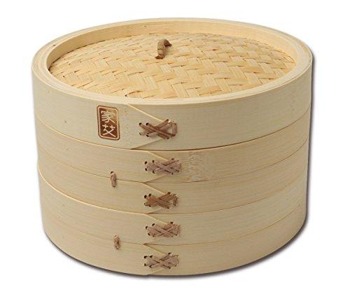 Joyce Chen 26-0013 '3-Piece' Bamboo Steamer 10'