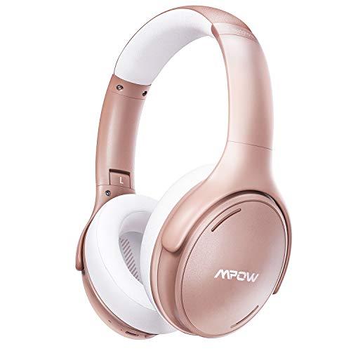[Nuevo] Mpow H19 iPO Cascos con Cancelación de Ruido, Bluetooth5.0, 35 Horas de Reproducir, Auriculares con Cancelación de Ruido con Hi Fi Sonido, Auriculares Diadema Bluetooth TV, PC, Tableta, Móvil