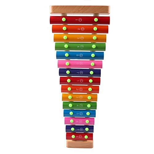 NINAINAI Tragbarer Aluminium-Klavier 15-Ton-Xylophone-Spieler Knocks Die Klingel Kleine Carillon Percussion-Instrument Professionelle Aluminium Klavier for Anfänger Early Education Aluminium Klavier