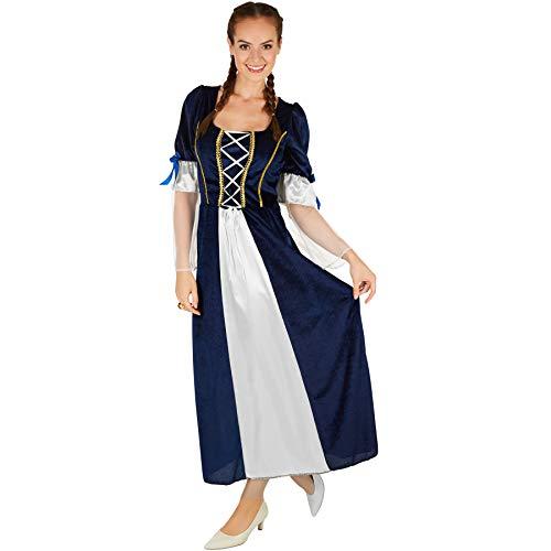 TecTake dressforfun Frauenkostüm Königstochter | Besteht aus wundervollem Satin und Pannesamt | Traumhaftes Königstochter-Kleid (XL)