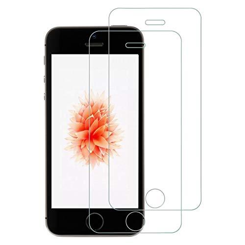 2枚セット NIMASO ガラスフィルム iPhone SE (2016年版) / 5S / 5 / 5C 用 強化ガラス液晶保護フィルム