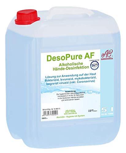 Desopure Händedesinfektion Desinfektionsmittel Assindia 5 Liter