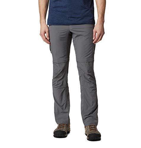 Columbia Silver Ridge II, Pantaloni da Escursionismo Convertibili Uomo, Grigio (City Grey), W32 L32