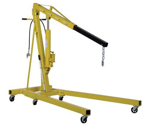 Vestil EHN-40-C-AH Steel Air/Hand Pump Hydraulic Shop Crane Engine Hoist with Folding Legs 4000 lbs Capacity