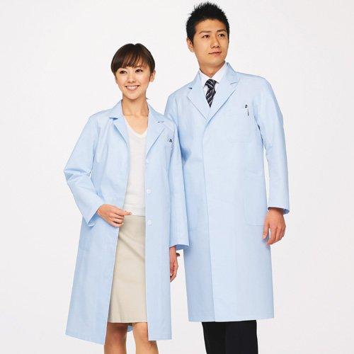 ドクターコート(白衣) レディース シングルコート ブルー M