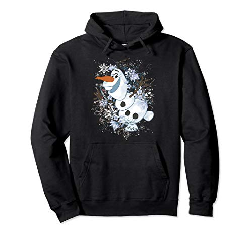 Disney Frozen Olaf Snowflakes Portrait Pullover Hoodie