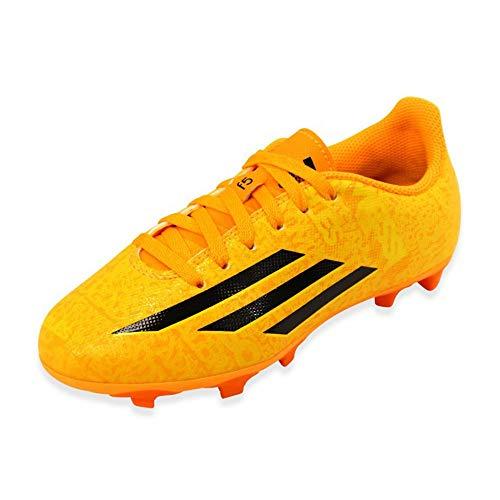 Adidas Leo Messi F5 FG Junior Kinder Nocken Fußballschuhe Gelb/Orange, Grösse:EU/36 - UK/3.5 - US/4 - CM/22