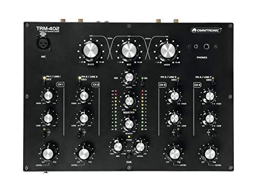Omnitronic 10355930 Mixer Analoog Rotatief met 4 kanalen