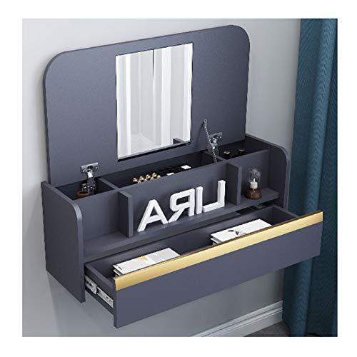 SYJH Mesas Plegables para Espacios Pequeños Mesa de Pared de Escritorio Plegable con Compartimentos de Almacenamiento y Cajones Escritorio de Pared o Tocador(Size:836×390×296mm)