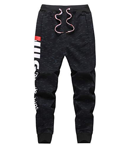 LAUSONS Pantalons de Sport Garçon - Pantalon de Survêtement Élastique Cheville - Bas de Jogging Enfant - Marin - Taille 150/10-11 Ans