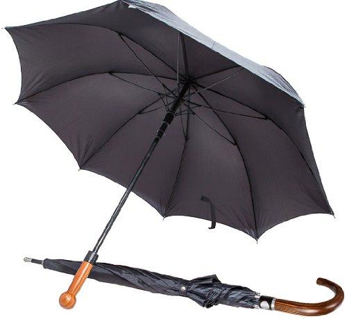 SDG Selbstverteidigungs-Regenschirm Security-Shield mit Echtholz-Griff (Knauf) inkl. 2X Dragon Pfefferspray