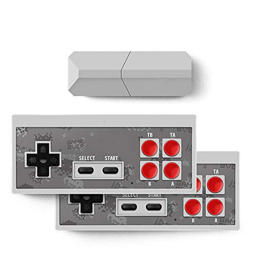 Leiyini Y2 Pro USB TV Video Game Console Classic 8-bit Mini Game Console Built-in 600 Classic Games|Video Game Controller Can Play Wireless Functions Within 10 Meters