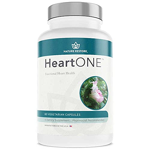 HeartOne, Heart Health Supplement for High LDL Cholesterol and High Tryglycerides and Supporting Better HDL Cholesterol, 60 Vegan Capsules, Non GMO, Gluten Free