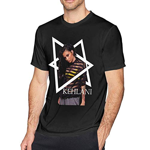 Pimkly Camisetas y Tops,Polos y Camisas Kehlani Men's Short Sleeves Casual T-Shirt Black