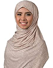 Kuwaiti Hijab Jeans Double Stretch Beige Color