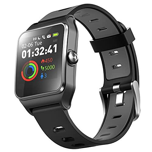 DR.VIVA Orologio GPS per Uomo Donna, Activity Tracker GPS Orologio da Corsa Touch Screen Smart Watch Cardiofrequenzimetro/Sleep/Passo/Contatore Orologio sportivo con 17 modalità Sport