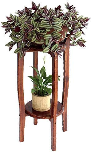 Wghz Madera Maciza Sala de Estar de múltiples Capas de Interior Suelo de Madera Soporte de Flores Soporte de exhibición de Flores Soportes de Plantas