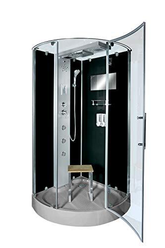 AcquaVapore DTP6037-4302 Dusche Dampfdusche Duschtempel Duschkabine 100x100 JA mit 2K Scheiben Versiegelung