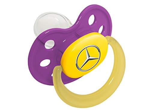 Mercedes-Benz Collection Lila Schnuller | Beruhigungssauger aus Kunststoff & Silikon | Kleinkindschnuller Saugergröße 1