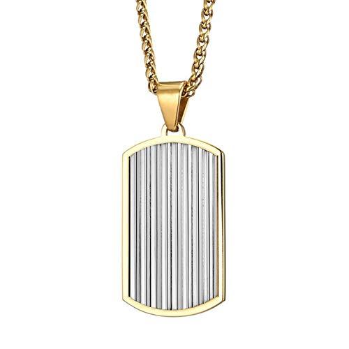 Collares Colgante Joyas Colgantes De Acero De Titanio Collares con Medalla Dominante Hombres-Gold_with_65Cm_Chian