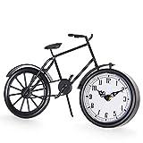 JUMBO DECOR Vintage Bicycle Table Clock on Stand,Black...