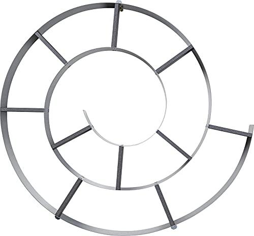 Kare Design - 70755 Snail - Scaffale da parete, Lamiera d acciaio trattato con vernici in polvere, pannello di truciolato rivestito, Argento, 73.5 x 81.5 x 13