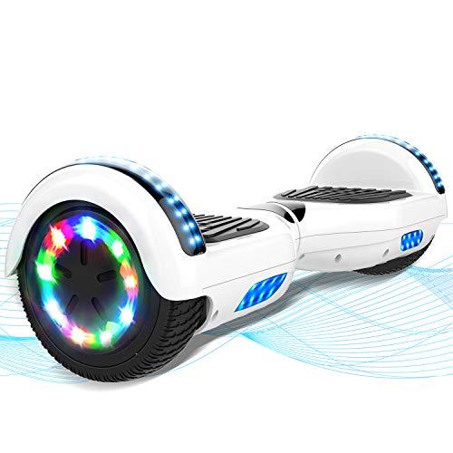 """MARKBOARD Hoverboard, Scooter autoequilibrado de 6.5"""", Hoverboard con Ruedas Luminosas, niños de Entre 8 y 12 años"""