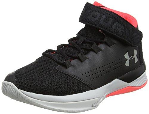 Under Armour Boy's Grade School Get B Z Basketball Shoe, Black (001)/Marathon Red, 5