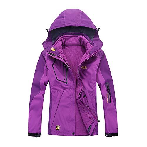 Herren Winter Skijacke,Outdoor Verdickt Softshelljacke,Abnehmbare kältefeste,wasserdichte und atmungsaktive Bergsteigerjacke-Female H_M #