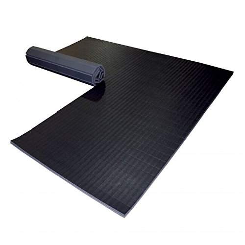 Dollamur 10'x10'x1.25 Flexi-Roll Martial Arts Tatami Mat (Black)