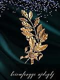 Pittura diamante per adulti Fiore d'oro DIY 9D Pittura digitale Pittura diamante Rotondo pieno di diamanti Ricamo Punto croce Artigianato Adesivo da parete Decorazione 40X50 cm Senza cornice