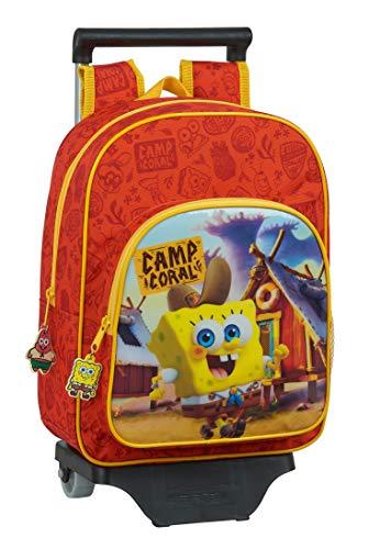 Safta 612083020 Mochila Infantil de Bob Esponja con Carro, Naranja/Amarillo, Único