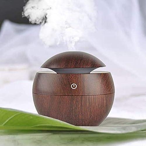 FEWZY Wood Grain Cool Mist Humidifier Mini Aroma Essential Oil Diffuser Humidifiers Essential Oil Diffuser Aroma Air Humidifier for Car Office Home School etc Multicolor
