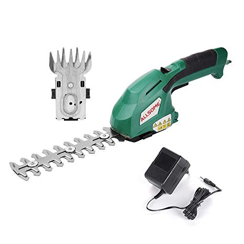 Why Should You Buy no logo TXBH 2 in 1 Electric Trimmer 7.2V Lithium-ion Cordless Hedge Trimmer Rech...
